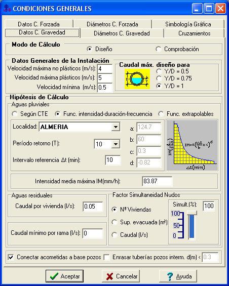 Alcan c lculo de redes de alcantarillado dmelect for Calculadora de redes